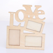 Hollow Love Wooden Photo Frame White Base DIY Picture Frame Art Hot sales