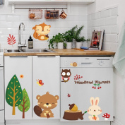 Cartoon zoo wall sticker cute animals decor background children's room bedroom decal