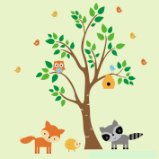 Woodland Nursery Decals - Forest Animal Stickers - Wall Decals Nurseery- Removable