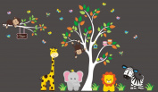 Girls Nursery Stickers - Monogrammed Nursery Decals - Girls Themed Decor Nursery