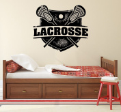 Lacrosse Wall Decal Sport Stamp Logo Emblem Vinyl Stickers Decals Mural Home Decor Nursery Bedroom Dorm Window Boy Gift Kids Room x171