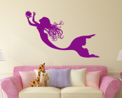 Mermaid Wall Decal Nymph Girl Tail Sea Animal Sea Ocean Vinyl Sticker Decals Bathroom Home Decor Bedroom Dorm Girls Nursery Kids Art x166