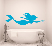 Mermaid Wall Decal Nymph Girl Tail Sea Animal Sea Ocean Vinyl Sticker Decals Bathroom Home Decor Bedroom Dorm Girls Nursery Kids Art x162
