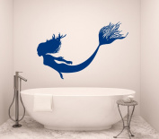 Mermaid Wall Decal Nymph Girl Tail Sea Animal Sea Ocean Vinyl Sticker Decals Bathroom Home Decor Bedroom Dorm Girls Nursery Kids Art x161