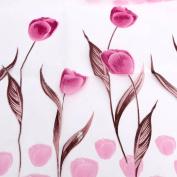 Tulip Flower Floral Tulle Voile Window Curtain Drape Sheer Decor