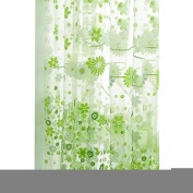 Beautiful Pastoral flower curtain yarn Green colour size 265x95cm