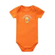 Newborn Baby Orange Short Sleeve Bodysuit Romper Onesies