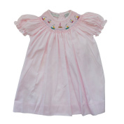 Carriage Boutique Baby Girl Hand Smocked Classic Bishop Dress - Pink Sail Boats