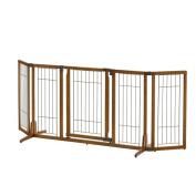 Wide Premium Plus Freestanding Pet Gate with Door
