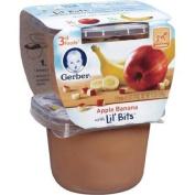 GERBER BABY FOOD 3RD FOODS APPLE BANANA 2 X 150ml CUPS