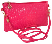 Women's Fashion Clutch with Strap Handbag Cross Body Bag Leather Wallet Coin Purse