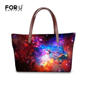 Fashion Galaxy Print Handbags for Women Shoulder Bags for Girls