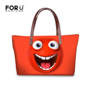 FOR U DESIGNS Fashion Face Print Waterproof Handbag for Teen Girls for School