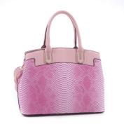 Euphranor Python Pattern Embossed Faux Leather Satchel Shoulder Hand Bag