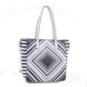 Margaid Faux Leather Tote Shoulder Hand Bag with Diamond Pattern Print
