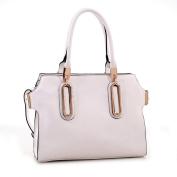 Akilah Elegant Designer Inspired Faux Leather Tote Shoulder Handbag