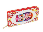 Women Clutch Wallet, PJS-MAX Leather Long Wallet Credit Card Holder Purse Handbag Size 7.6 X 10cm X 5.1cm
