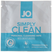 Jo Personal Cleansing Wipes Singles - Simply Clean Single Wipe Comes In Display Of 24