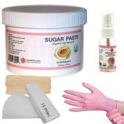 Sugaring Hair Removal Paste at Home Kit - (Strips , Applicator Sticks, Gloves) Large350g ( 350ml), Anti-Ingrown Hair Solution