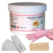 Sugaring Hair Removal Paste at Home Kit - (Strips , Applicator Sticks, Gloves) Large350g