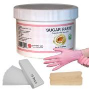 Sugaring Hair Removal Paste at Home Kit - (Strips , Applicator Sticks, Gloves) Large350g