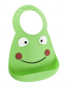Make My Day Soft Silicone Baby Bib Green Frog