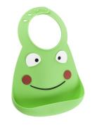 Make My Day Soft Silicone Baby Bib Green Frog