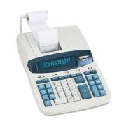 1260-3 Two-Colour Heavy-Duty Printing Calculator, Black/Red Print, 4.6 Lines/Sec, Sold as 2 Each