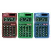 Handheld Calculator,8-Digit,Dual Powered,Large LCD,Assorted, Sold as 2 Each