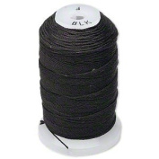 Simply Silk Beading Thread Cord Size F Black 0.0137 0.3480mm Spool 140 Yards for Stringing Weaving Knotting