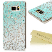 Note 5 Case,Galaxy Note 5 Case - Mavis's Diary 3D Handmade Bling Crystal Shiny Rhinestone Diaonds Special Hollow Floral Gradient Pattern Hard PC Cover Clear Case for for for for for for for for for for Samsung Galaxy Note 5