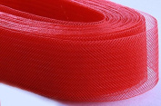 4 yards 3.2cm Red Crinoline Crin Horsehair Braid Tubular Trim Millinery Hats Good Crafted DIY Ideas