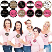 Girls Night Out - Bachelorette Party Name Tags - Sticker Set of 12