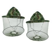 Freedi 2Pcs Mosquito Net Cap Camping Net Cap Green