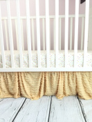 Gold Ruffle Crib Skirt for Baby Girl Nursery Bedding