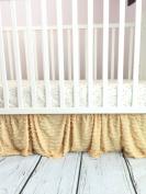 Gold Ruffle Crib Skirt for Baby Girl Nursery Bedding