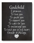 Godchild Nursery Art Print, Perfect Christening/Baptism Gift for Godson / Goddaughter