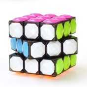 Aokbean 3 by 3 Speed Cube Stickerless Magic Cube 3*3*3 Puzzle 62mm