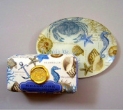 Michel Design Works Bath Soap Bar & Glass Soap Dish, Seashore