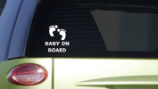 Baby on Board feet *I396* 20cm Sticker decal pregnancy nursery baby bed