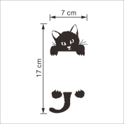 Fashion Practical Cute Cat Children's Room Bedroom Wall Decal Switch Decoration Sticker Wall Sticker
