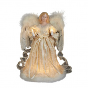 Kurt Adler 10-Light Ivory Angel Treetop, 30cm