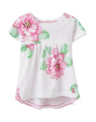 Joules Baby Girls Reversible Jersey Top - Bright White Flo - 0-3 months / 62 cms