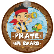 Disney Jake and The Never Land 'Pirate On Board' Pirate & Parrot Car Window Sign