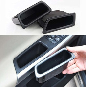 9 MOON® Environmental Friendly Plastic Armrest Storage Box fit Volvo XC60 2010 2011 2012 2013 2014 2015 Front Door Black 2Pcs Only for Front Door
