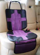 Child Car Seat Protector Mat, Termichy Car Seat Cover with Foam Padded and Anti-Slip Back, Waterproof in Purple Colour, Machine Washable