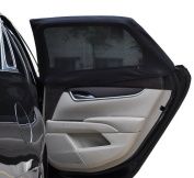 Auto Car Sun Shades Cover for Real Side Window Mesh Sun Visor Screen Shield UV Protection for Baby, Kids , Children, Pets