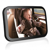 Baby Car Mirror, Smacho Rear Facing Car Mirror Adjustable Angle View,Safely Transport Your Child