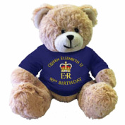 Queen Elizabeth II 90th Birthday Souvenir Teddy Bear