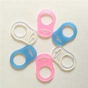 6 pcs MAM Ring Button Style Pacifier Adapter